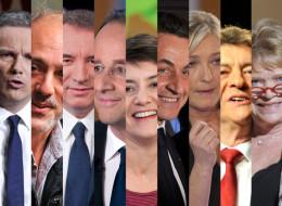 Les principaux candidats qualifiés et recalés à l'élection présidentielle