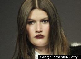 The dark lip was a definite beauty trend during Toronto Fashion Week 2012.