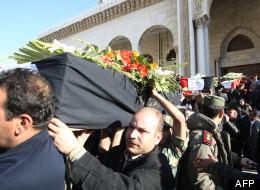Enterrement des victimes de l'attentat de Damas, le 18 mars 2012