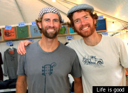 The good life: Bert and John Jacobs have turned Life is good into a $100 million brand.
