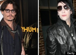 Johnny Depp, left, and Marilyn Manson have collaborated on a song.