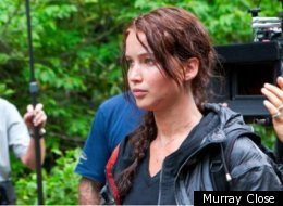 Jennifer Lawrence on the budget-minded set of