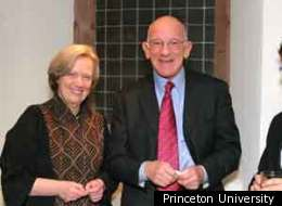 Peter B. Lewis, with Princeton University President Shirley M. Tilghman, in 2006.