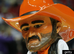 Oklahoma State University's Pistol Pete Cowboys mascot. The university couldn't corral revenue on life insurance plans for boosters.