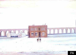 Lowry's The Viaduct was among the works recovered