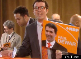 Rick Mercer makes light of the NDP leadership convention in Toronto. (YouTube)