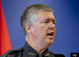 Albuquerque Police Chief Ray Schultz in a 2009 press conference. Schultz has said he was unaware of the police union practice of paying officers involved in shootings extra money.