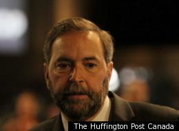 NDP leadership candidate Thomas Mulcair clearly rushed through his speech.