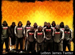 LeBron James tweeted an image of the Miami Heat players wearing hoodies along with the message #WeAreTrayvonMartin #Hoodies #Stereotyped #WeWantJustice