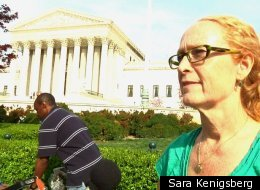 Kathie McClure, first in line for Supreme Court health care cases.