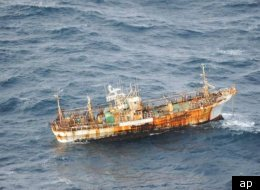A Japanese fishing boat swept away in the 2011 earthquake has been spotted a year later near British Colombia