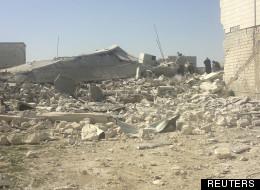 Des maisons détruites à Sermeen par l'armée de Bachar el-Assad le 24 mars