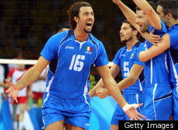 FILE: Vigor Bovolenta of Italy celebrates after defeating Poland during the volleyball event during the Beijing 2008 Olympic Games on August 20, 2008.
