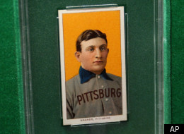A 1909 Honus Wagner baseball card, which sold in 2000 for more than US$1 million, is seen on display at a sports memorabilia show at the Atlantic City Convention Center in Atlantic City, N.J., in this file photo from July 2003. The
