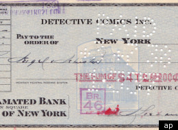Seven decades after it was cut by DC Comics, the check sent to Jerry Siegel and Joe Shuster for their creation of Superman is up for auction.