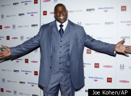 Magic Johnson's group won the bid for the Los Angeles Dodgers.