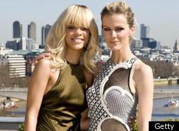 Rihanna and Brooklyn Decker pose for Battleship