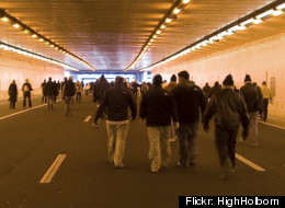 During Barack Obama's 2009 inauguration, thousands were trapped in the Interstate 395 tunnel beneath the National Mall. (Flickr photo by <a href=
