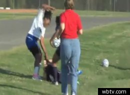 Lewisville High's Annette McCullough was charged with assault after her brutal attack in a soccer match.