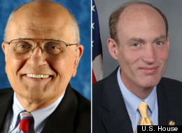 Michigan Reps. John Dingell (left) and Thaddeus McCotter (right).