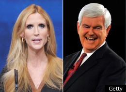 Ann Coulter slammed Republican presidential hopeful Newt Gingrich on Friday, saying his past was