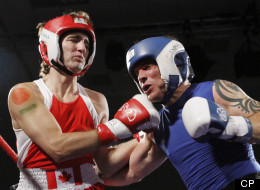 Justin Trudeau and Patrick Brazeau fought a boxing match in Ottawa on Saturday night. (Mediaball)