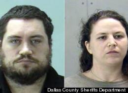 Aaron Ramsey and Elizabeth Ramsey in police booking photos.