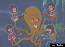 One of the forgotten pieces of Beatlemania is this mid-1960s Saturday morning show that features them in adventures such as helping this lovelorn octopus.