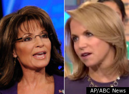 Palin and Couric squared off on the morning shows