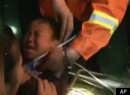 Chinese firefighters use an iPhone to help rescue a trapped toddler in China's Yunnan Province