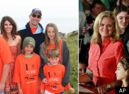 Like Ann Romney, Kelly Gaeckle, pictured with her husband Peter and their four children, has multiple sclerosis. Unlike Ann Romney, she's not married to a multimillionaire.