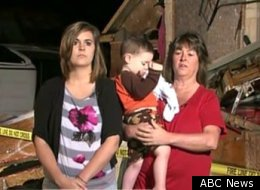 A Texas Grandma saved three children during Tuesday's twister storms