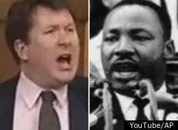 Tory MP John Williamson channeled Martin Luther King in a speech denouncing the long gun registry on Thursday. (YouTube/AP)