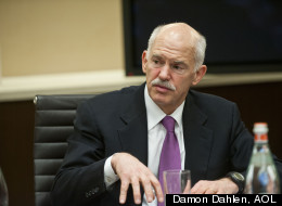 Papandreou sat down with editors and reporters at The Huffington Posts offices on Thursday, April 5