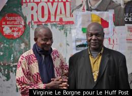 À droite, Lassana Niakaté, Président de l'Association des Maliens de Montreuil, et un ami.