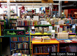 Open Books, one of many organizations that can benefit from your used goods.