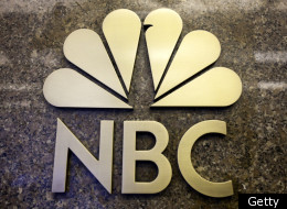 The NBC logo is seen on the entrance to NBC Studios on E 49th Street on December 1, 2009 in New York City. (Photo by Michael Nagle/Getty Images)