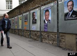 Affiches de campagne à Paris le 9 avril