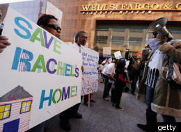 Protesters Mark The 160th Year Of Wells Fargo With Satirical Birthday Party