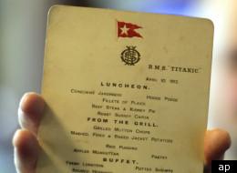 An original Titanic menu from April 10th 1912.