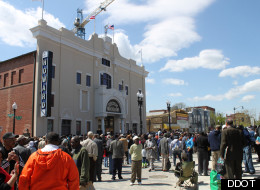 The Howard Theatre on T Street NW was the scene of a ribbon cutting on Monday