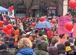 Les étudiants entament leur 9e semaine de grève contre la hausse des droits de scolarité. (Photo SRC)