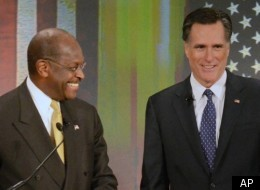Herman Cain says he'd back Mitt Romney if the Republican Party nominates him as its presidential pick.
