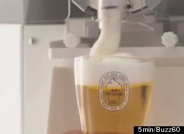 The Japanese brewery giant Kirin is introducing soft-serve frozen beer foam that supposedly keeps a beer cold for 30 minutes.