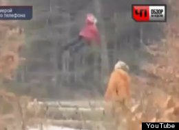 Video from Russia shows this little girl apparently levitating above the ground.