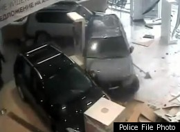 A Russian doctor is accused of using a Suzuki Grand Vitara as a battering ram at a Moscow auto dealership.