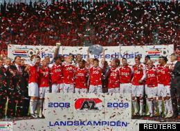 L'AZ Alkmaar célèbre son titre de champion des Pays-Bas le 10 mai 2009