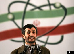 Iranian President Mahmoud Ahmadinejad, speaks at a ceremony in Iran's nuclear enrichment facility in Natanz.