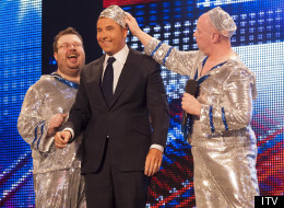 David Walliams can't help himself on Britain's Got Talent, joining one group on stage