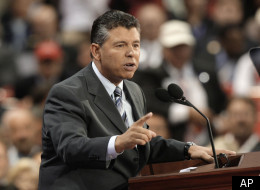Then-California state senator and current congressional candidate Abel Maldonado speaks at the 2008 Republican National Convention.